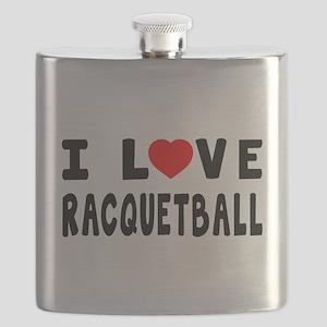 I Love Recquetball Flask