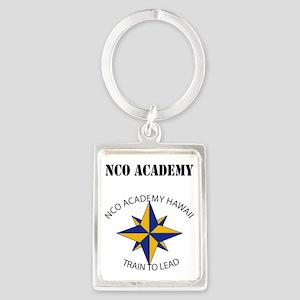 NCO Academy with Text Portrait Keychain