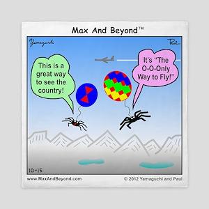 Ballooning Spiders Cartoon Queen Duvet