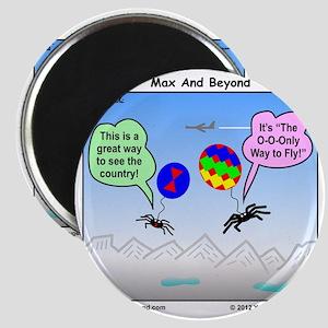 Ballooning Spiders Cartoon Magnet