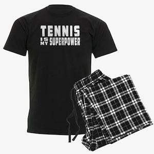 Tennis Is My Superpower Men's Dark Pajamas