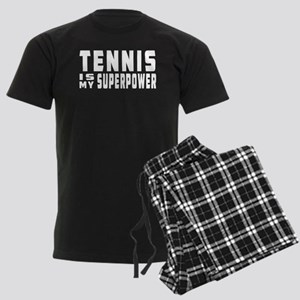 Tennis Is My Superpower Men's Dark Pajamas