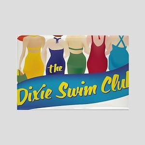 Dixie Swim Club Logo Rectangle Magnet