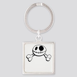 I live inside your face Square Keychain