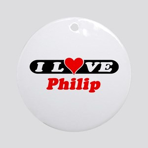 I Love Philip Ornament (Round)