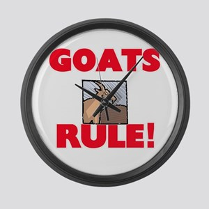 Goats Rule! Large Wall Clock