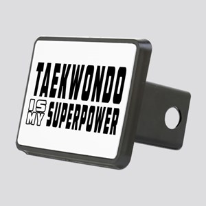 Taekwondo Is My Superpower Rectangular Hitch Cover