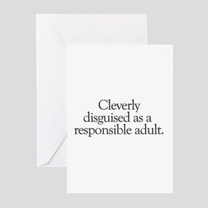 cleverly disguised as a respo Greeting Cards (Pack