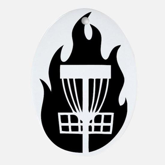 Fire Basket Oval Ornament