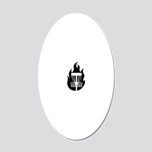 Fire Basket 20x12 Oval Wall Decal