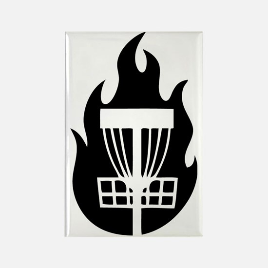 Fire Basket Rectangle Magnet