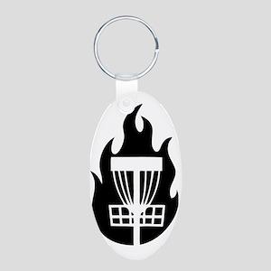 Fire Basket Aluminum Oval Keychain