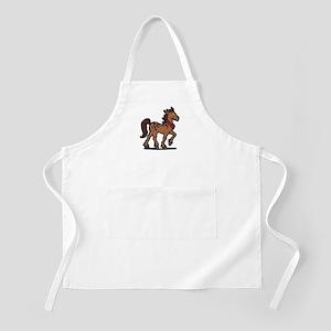 Cartoon Horse Art Western BBQ Apron