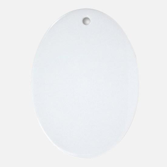 Fireball Basket white Oval Ornament