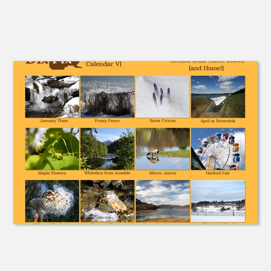 DixPix Classic Calendar 6 Postcards (Package of 8)