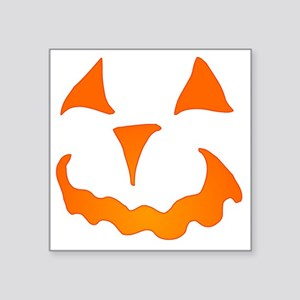 "Pumpkin Face Jack-O-Lantern Square Sticker 3"" x 3"""