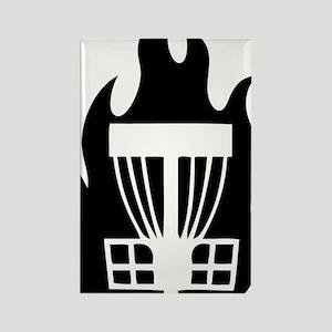 Fireball Basket black Rectangle Magnet