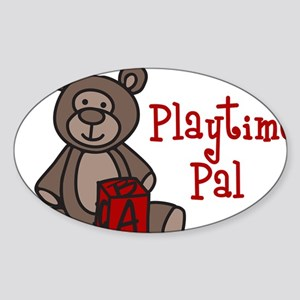 Playtime Pal Sticker (Oval)