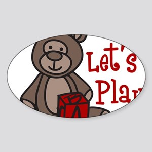 Lets Play Sticker (Oval)