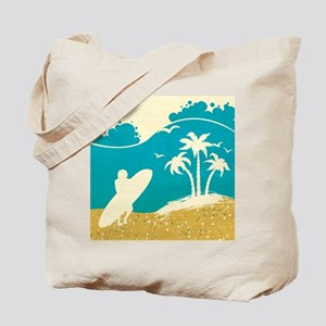 Surfer at the Beach Tote Bag