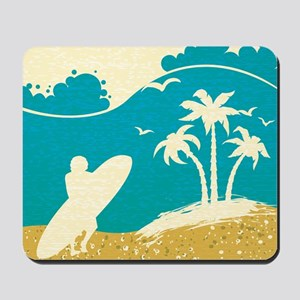 Surfer at the Beach Mousepad