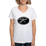 Gar Fishing Women's V-Neck T-Shirt