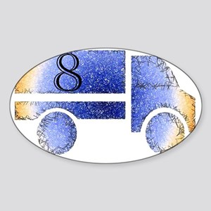 Baby is Eight - 8 Month? or 8 Year? Sticker (Oval)
