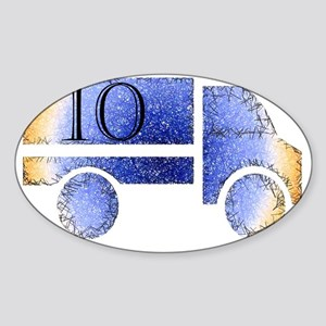Baby is Ten - 10 Month? or 10 Years Sticker (Oval)