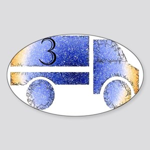 Baby is Three - 3 Month? or 3 Year? Sticker (Oval)