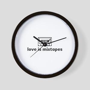 love is mixtapes Wall Clock