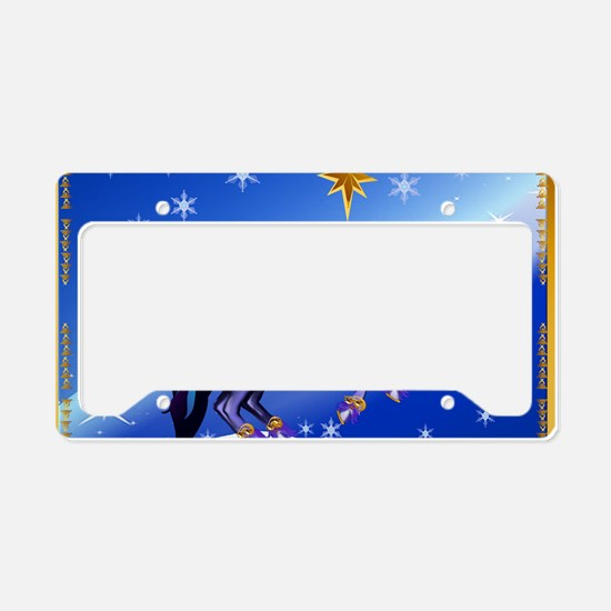 Yard Sign Bright Christmas Un License Plate Holder