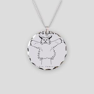 Werewolf Necklace Circle Charm
