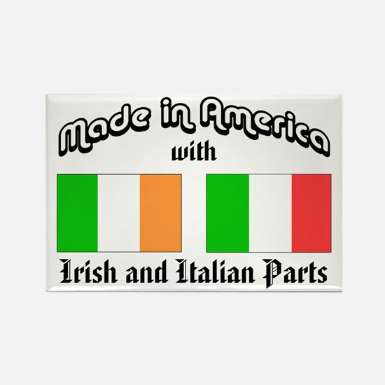 Irish-Italian Rectangle Magnet