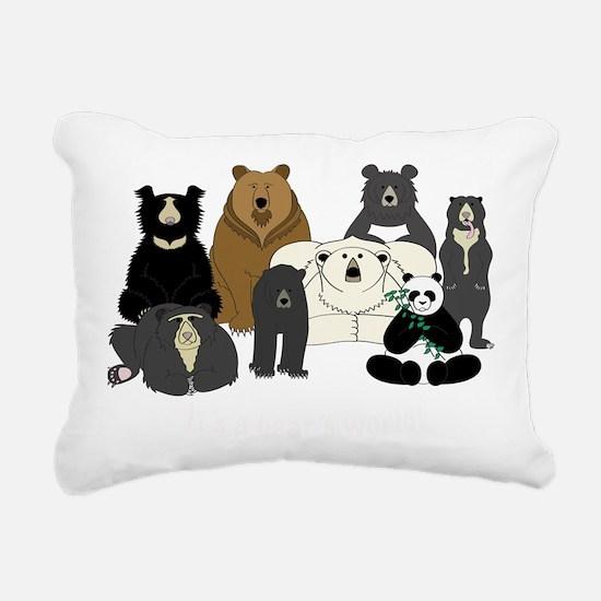 Bears world Rectangular Canvas Pillow