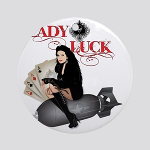 Lady Luck  Round Ornament