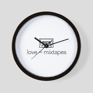 love = mixtapes Wall Clock