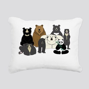Bear Group Rectangular Canvas Pillow
