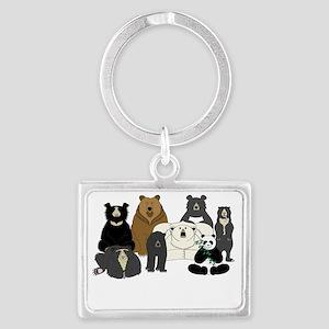 Bear Group Landscape Keychain