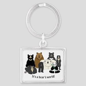 Bears world Landscape Keychain