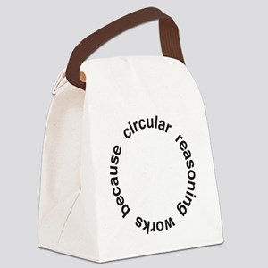 Circular Reasoning Canvas Lunch Bag