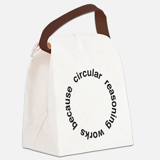 Circular Reasoning Canvas Lunch Bag