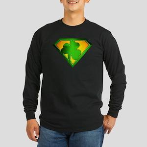 Super Shamrock Long Sleeve Dark T-Shirt