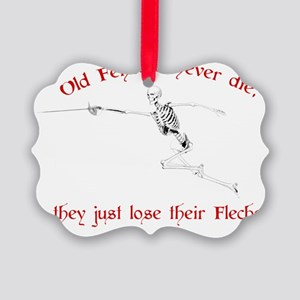 Old Fencers Never Die Picture Ornament