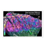 Jackson Hole 3d Ski Map Postcards (Package of 8)