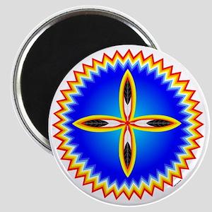 EAGLE FETHER CROSS MEDALLION Magnet