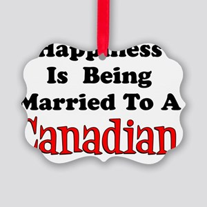 Happiness Married To Canadian Picture Ornament