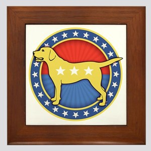 yellow-dog-T Framed Tile