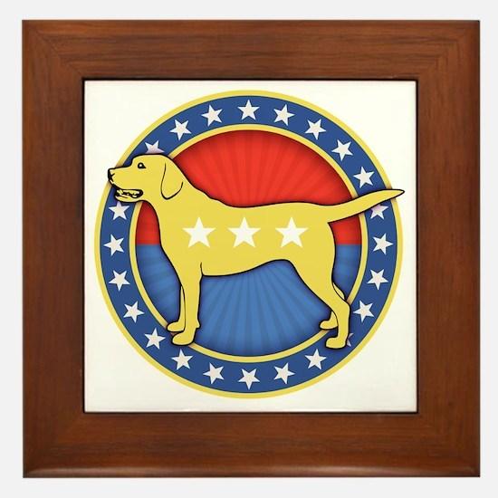 yellow-dog-T Framed Tile
