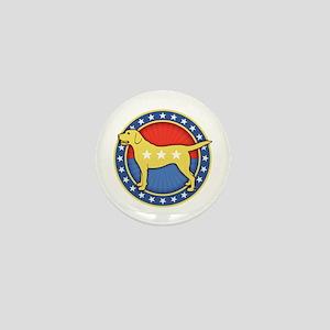 yellow-dog-T Mini Button