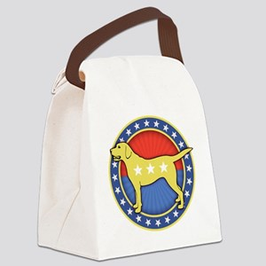 yellow-dog-T Canvas Lunch Bag